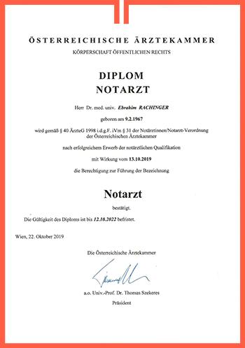 Rachinger Diplom Notarzt